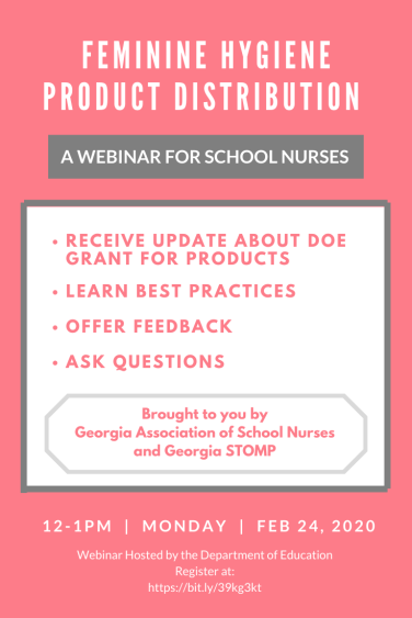 School Nurse Webinar Flyer